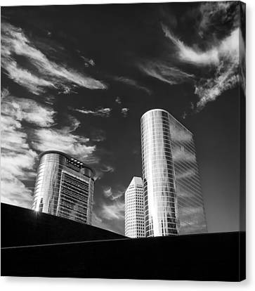 Silver Towers Canvas Print by Dave Bowman