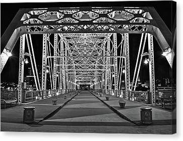 Silvery Bridge Canvas Print by Frozen in Time Fine Art Photography