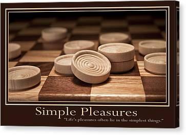Simple Pleasures Poster Canvas Print by Tom Mc Nemar