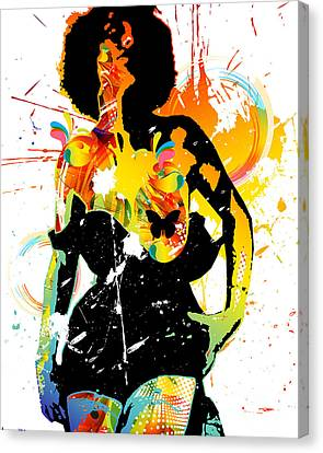 Simplistic Splatter Canvas Print by Chris Andruskiewicz