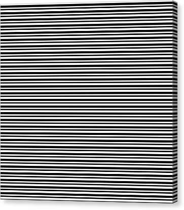 Simply Stripes- Art By Linda Woods Canvas Print by Linda Woods
