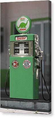 Sinclair Gasoline - Wayne Double Pump Canvas Print by Mike McGlothlen