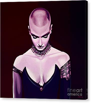 Sinead O'connor Canvas Print by Paul Meijering