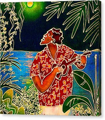 Sing Hanalei Moon Canvas Print by Angela Treat Lyon