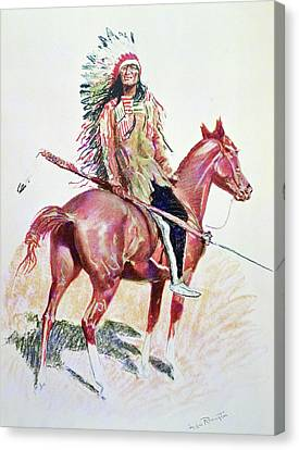 Sioux Chief Canvas Print by Frederic Remington