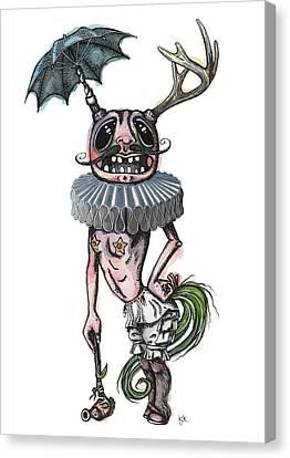 Sir Earnest Picklebottom Canvas Print by Kelly Jade King