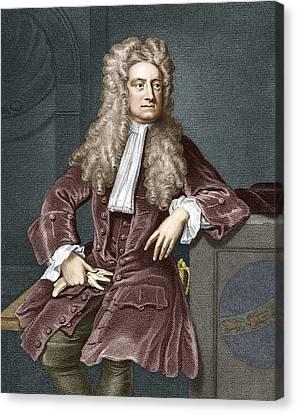 Sir Isaac Newton, British Physicist Canvas Print by Sheila Terry