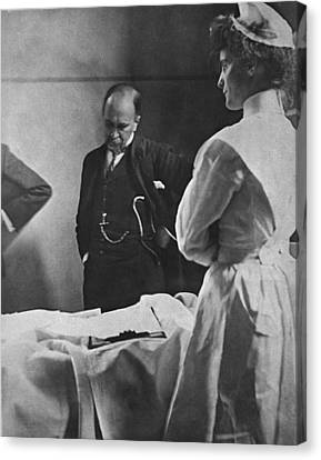 Sir William Osler 1849 � 1919, Reading Canvas Print by Everett