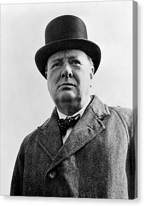 Sir Winston Churchill Canvas Print by War Is Hell Store
