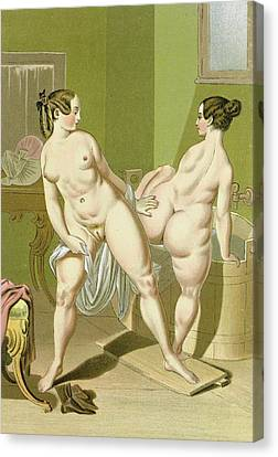 Sisterly Love Canvas Print by Peter Fendi
