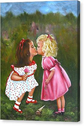 Sisters Canvas Print by Joni McPherson