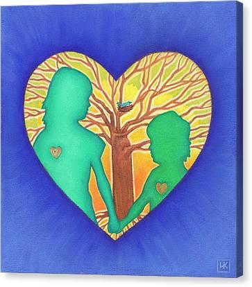 Sisters Canvas Print by Lisa Kretchman