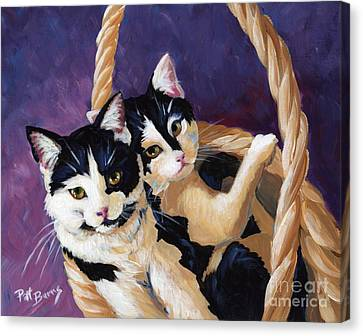 Sisters Canvas Print by Pat Burns