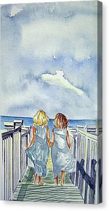 Sisters Canvas Print by Paul SANDILANDS