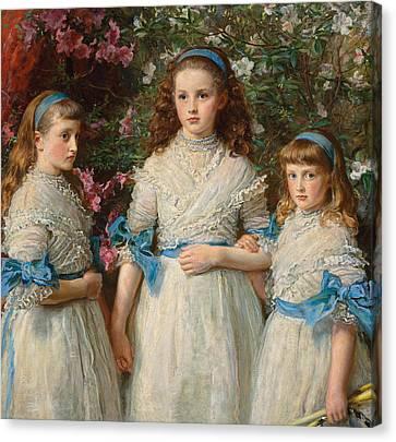 Sisters Canvas Print by Sir John Everett Millais