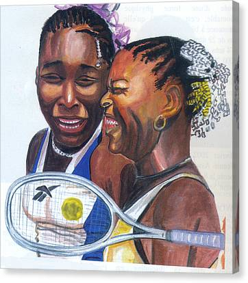 Sisters Williams Canvas Print by Emmanuel Baliyanga