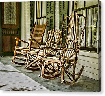Sit A Spell Canvas Print by Stephen Stookey