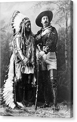 Sitting Bull And Buffalo Bill, 1885 Canvas Print by Science Source