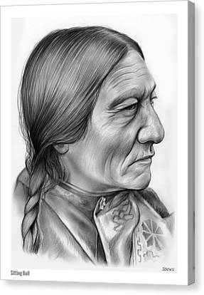 Sitting Bull Canvas Print by Greg Joens