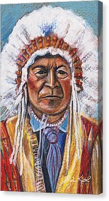 Sitting Bull Canvas Print by John Keaton