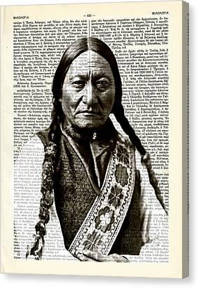 Sitting Bull - Sioux Lakota Nation Canvas Print by Helena Kay