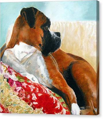 Sitting Pretty Canvas Print by Jill Brabant