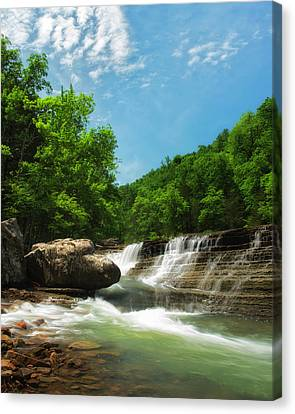 Six Finger Falls Canvas Print by Ron McGinnis
