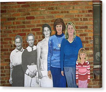 Six Generations Of Women Canvas Print by Betty Pieper