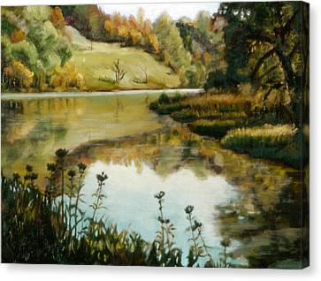 Six Mile Creek Ithaca Canvas Print by John Clum