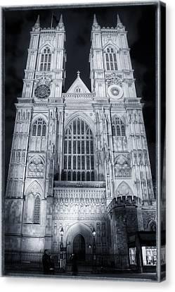 Westminster Abbey Night Canvas Print by Joan Carroll