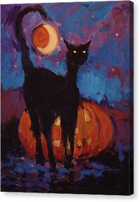 Skankies Jack O Lantern Canvas Print by R W Goetting