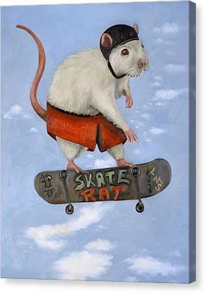 Skate Rat Canvas Print by Leah Saulnier The Painting Maniac