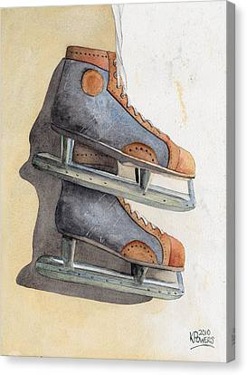 Skates Canvas Print by Ken Powers