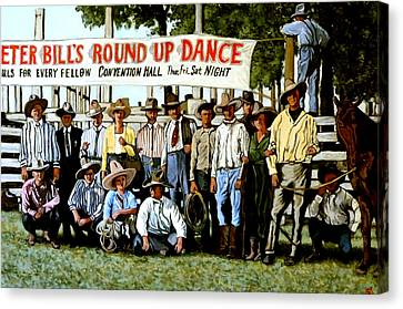 Skeeter Bill's Round Up Canvas Print by Tom Roderick