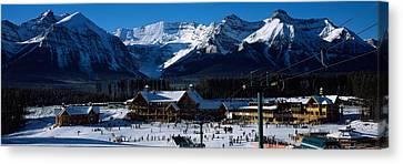 Ski Resort Banff National Park Alberta Canvas Print by Panoramic Images