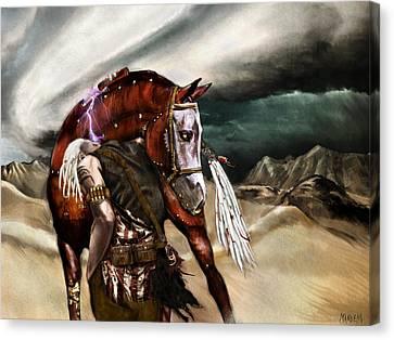 Skin Horse Canvas Print by Mandem