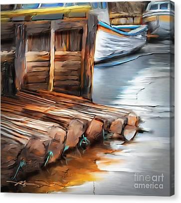 Skinner's Pond Canvas Print by Bob Salo