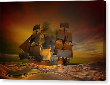 Skirmish Canvas Print by Carol and Mike Werner