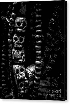 Skull Beads Canvas Print by James Aiken