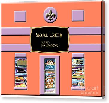 Skull Creek Pastries Canvas Print by Candace Lovely