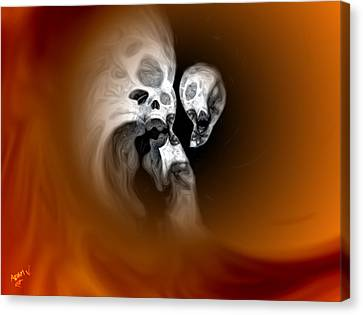 Skull Scope 2 Canvas Print by Adam Vance