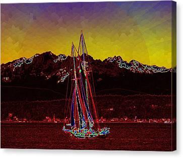 Sky Diamonds Canvas Print by Tim Allen