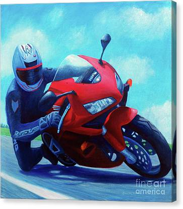 Sky Pilot - Honda Cbr600 Canvas Print by Brian  Commerford