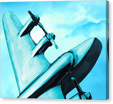 Sky Plane Canvas Print by Slade Roberts