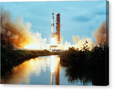 Skylab Space Station - Saturn V Launch Canvas Print by War Is Hell Store
