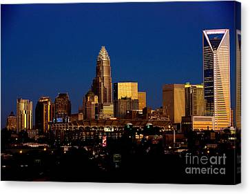 Skyline At Dusk Canvas Print by Patrick Schneider