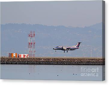 Skywest Airlines Jet Airplane At San Francisco International Airport Sfo . 7d12127 Canvas Print by Wingsdomain Art and Photography