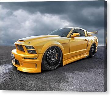 Slammer - Mustang Gtr Canvas Print by Gill Billington