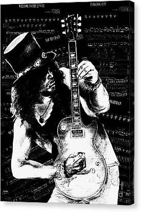Slash Canvas Print by Kathleen Kelly Thompson