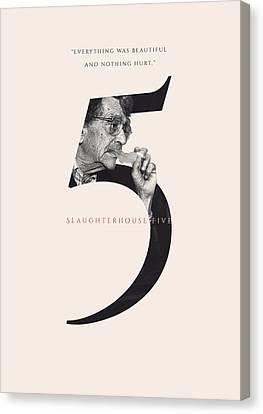 Slaughterhouse Five, Kurt Vonnegut Canvas Print by Connor Sorhaindo